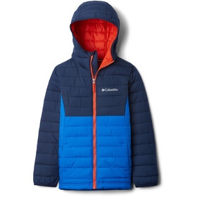 Columbia Powder Lite Capuchon Jas Jongens, super blue/collegiate navy